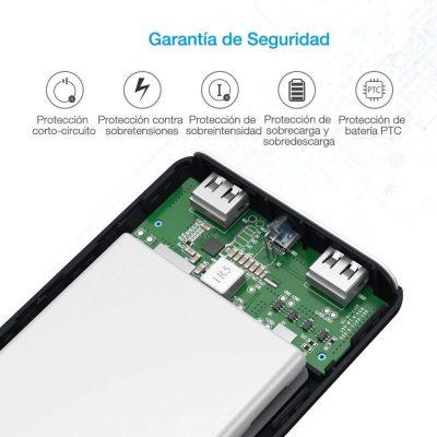 Batería Externa Power Bank 20000 mAh. Poweradd Pilot X7. Seguridad de Carga para tu teléfono móvil