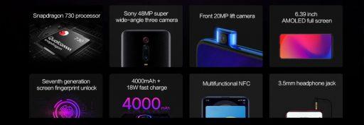 Especificaciones Top del Xiaomi Mi 9T
