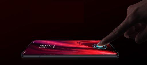 Sensor de huellas bajo la pantalla en el k20 pro