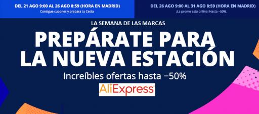 Semana de las marcas en Aliexpress
