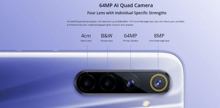 4 cámaras en el RealME 6 más económico