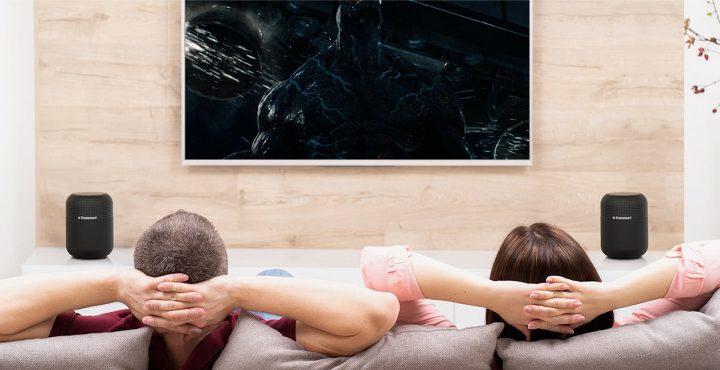 Puedes vincular 2 Altavoces T6 MAX mediante tecnología TWS para crear un Home Cinema sin cables y con un precio muy económico