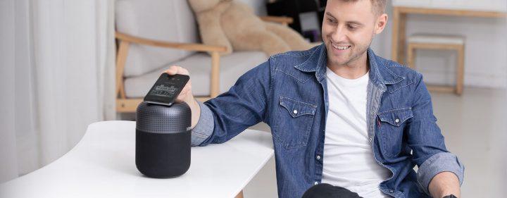 A pesar de ser un Altavoz bastante barato, el Tronsmart T6 MAX cuenta con NFC para conectar el dispositivo con tu dispositivo