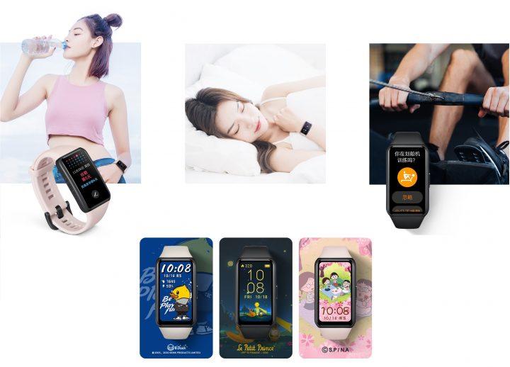 100 Faces, Control de la salud femenina, reconocimiento automático de la actividad deportiva, monitoreo del Oxígeno en Sangre, Mejoras en el Algoritmo de control del sueño, Sistema Huawei TrueSeen 4.0 mejorado, diseño espectacular, autonomía de 2 semanas, carga rápida... la Honor Band 6 parece la Smartband perfecta
