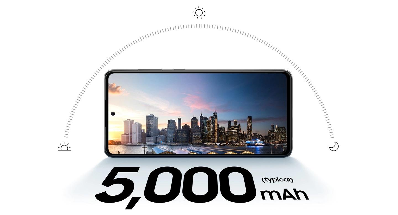 Gran Bateria de 5000 mAh y Carga Rápida de 25W en el Samsung A72