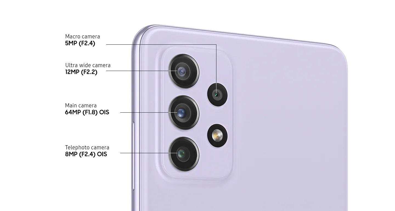 Detalle del Módulo de Cámaras del Samsung Galaxy A72