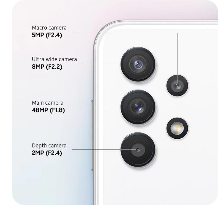 El A32 5G cuenta con un sistema de 4 cámaras