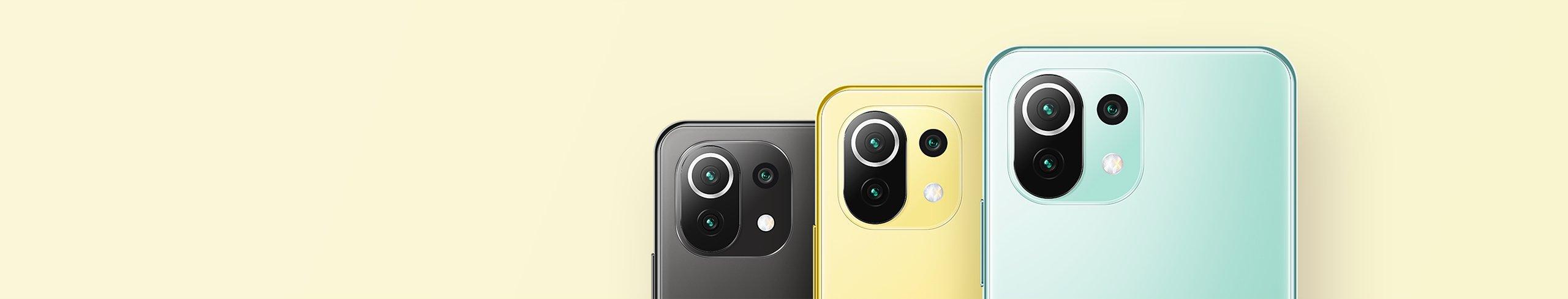 El Mi 11 Lite 5G puede comprarse en 3 colores diferentes