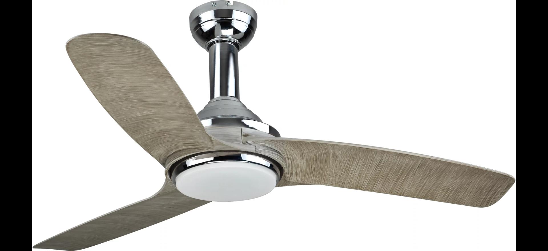 Ventilador de Techo silencioso Leroy Merlin con luz Inspire Gandia