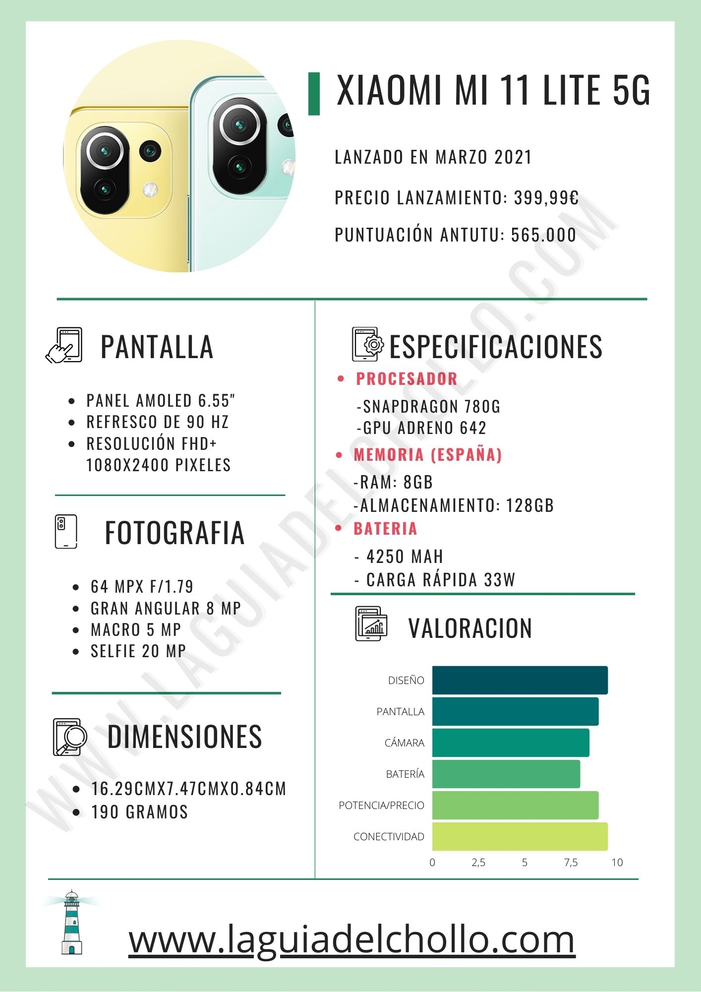 Especificaciones del Xiaomi Mi 11 Lite 5G